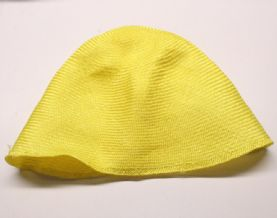 Bright Yellow Parasisal Straw Hood or Cone Hat Body